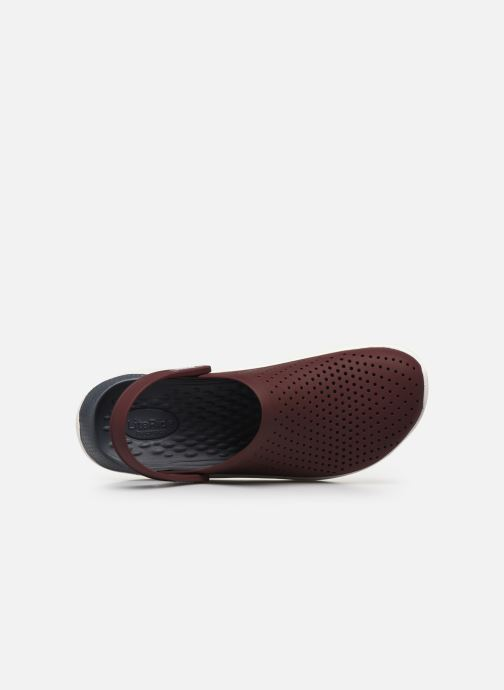 Sandals Crocs LiteRide Clog M Burgundy view from the left