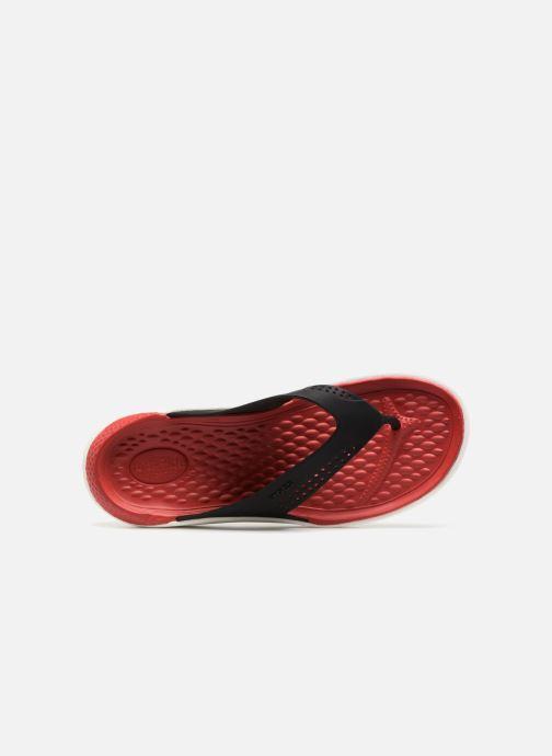 Tongs Crocs LiteRide Flip M Rouge vue gauche