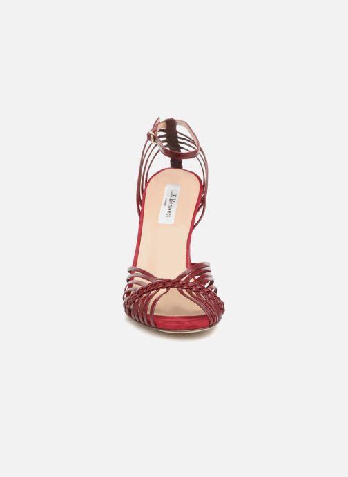 Sandales et nu-pieds L.K. Bennett Lilybelle Violet vue portées chaussures