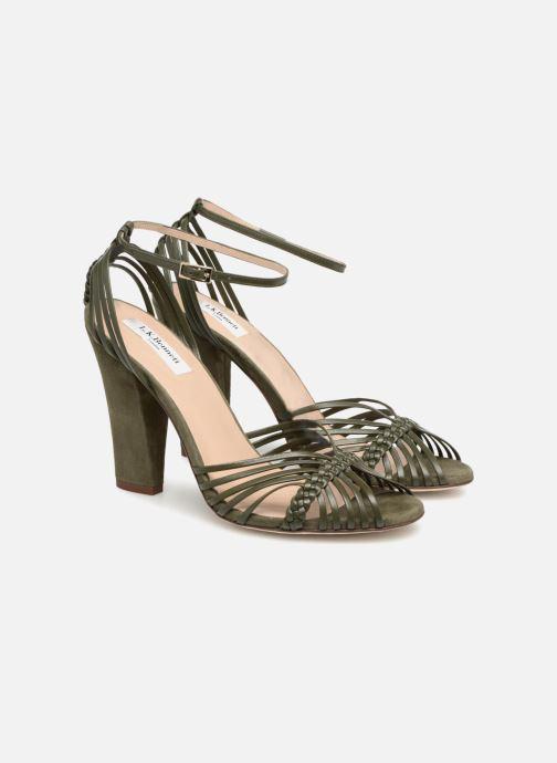 Sandales et nu-pieds L.K. Bennett Lilybelle Vert vue 3/4
