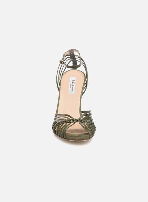 Sandalen L.K. Bennett Lilybelle grün schuhe getragen