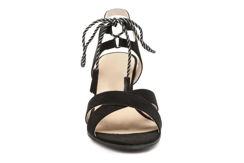 Sandales et nu-pieds Divine Factory Armelle Noir vue portées chaussures