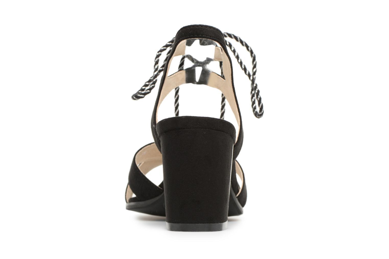 Sandales et nu-pieds Divine Factory Armelle Noir vue droite