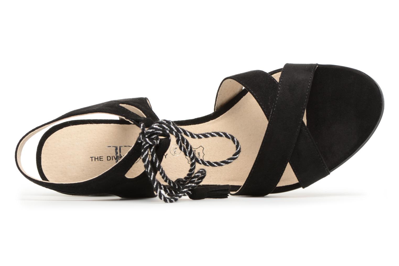 Sandales et nu-pieds Divine Factory Armelle Noir vue gauche