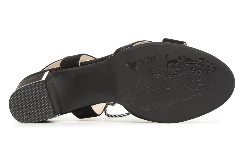 Sandales et nu-pieds Divine Factory Armelle Noir vue haut