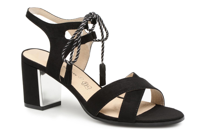 Sandales et nu-pieds Divine Factory Armelle Noir vue détail/paire