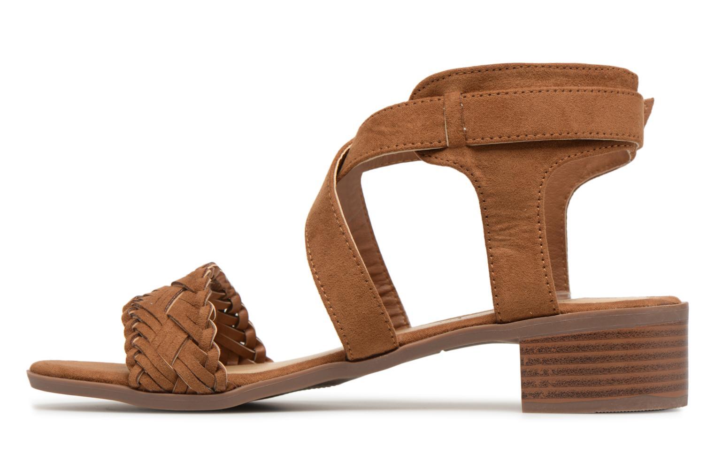 Sandales et nu-pieds Divine Factory Marine Marron vue face