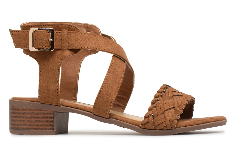 Sandales et nu-pieds Divine Factory Marine Marron vue derrière