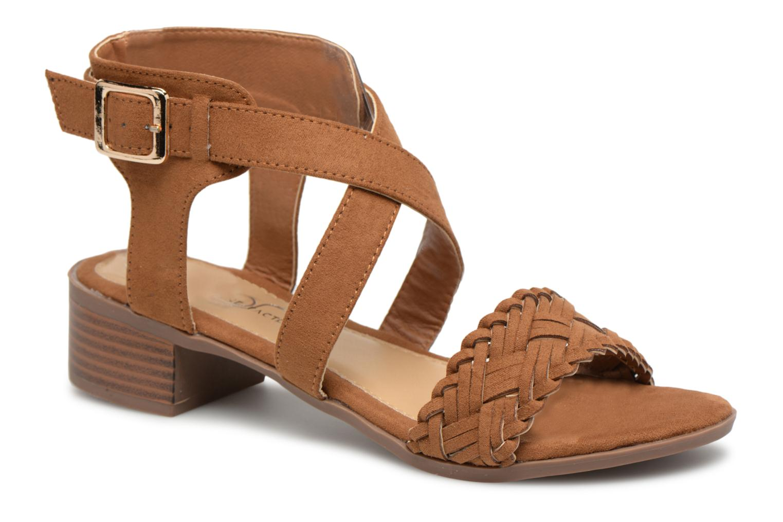 Sandales et nu-pieds Divine Factory Marine Marron vue détail/paire