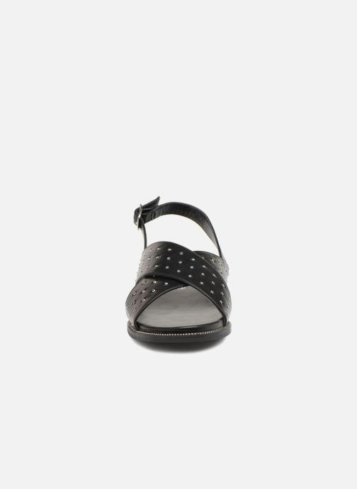 Sandales et nu-pieds Divine Factory Léna Noir vue portées chaussures