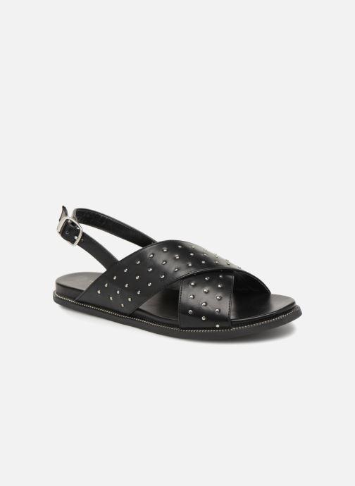 Sandales et nu-pieds Divine Factory Léna Noir vue détail/paire