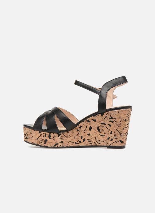Sandales et nu-pieds Divine Factory Louise Noir vue face