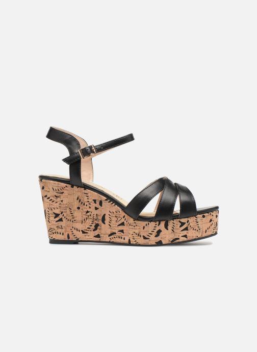 Sandales et nu-pieds Divine Factory Louise Noir vue derrière
