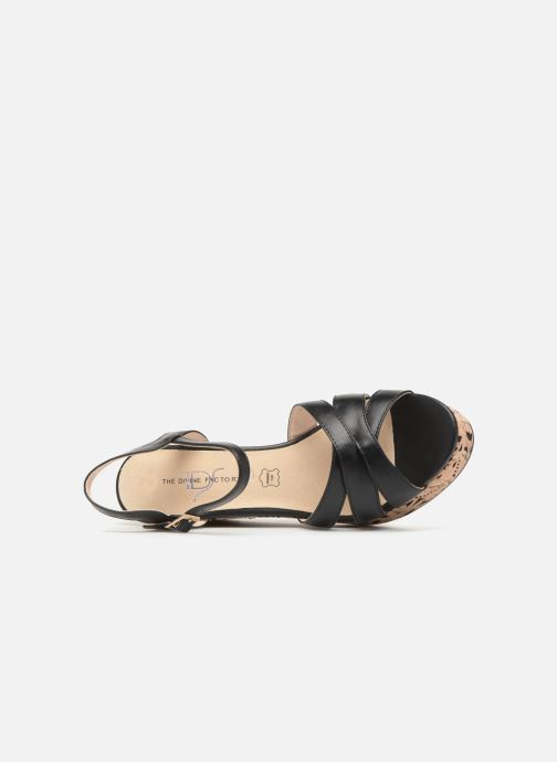 Sandales et nu-pieds Divine Factory Louise Noir vue gauche