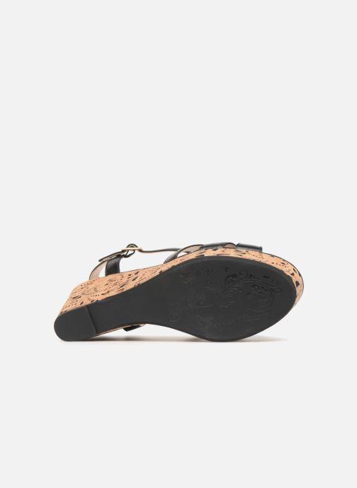 Sandales et nu-pieds Divine Factory Louise Noir vue haut