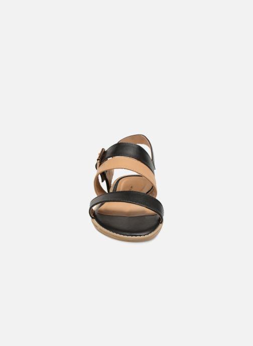 Sandales et nu-pieds Divine Factory Decorbe Noir vue portées chaussures