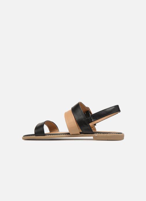 Sandales et nu-pieds Divine Factory Decorbe Noir vue face