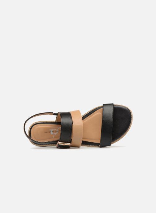 Sandales et nu-pieds Divine Factory Decorbe Noir vue gauche