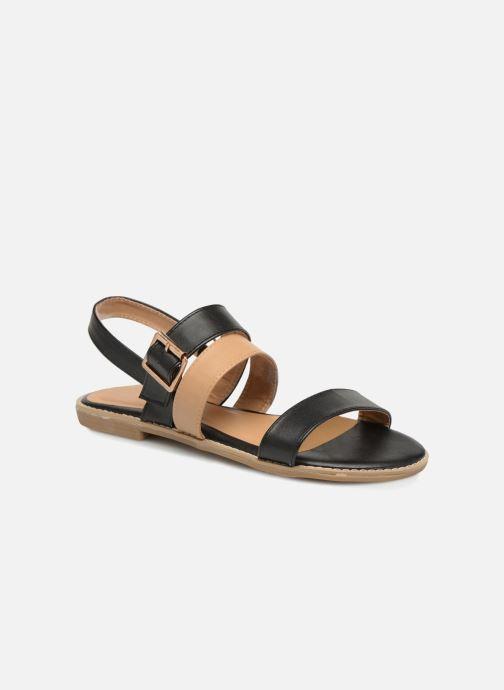 Sandales et nu-pieds Divine Factory Decorbe Noir vue détail/paire