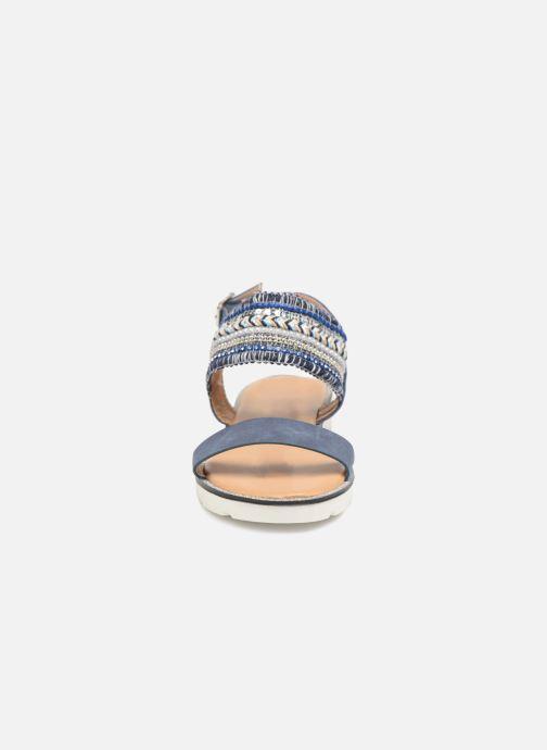 Sandalen Divine Factory Anna blau schuhe getragen