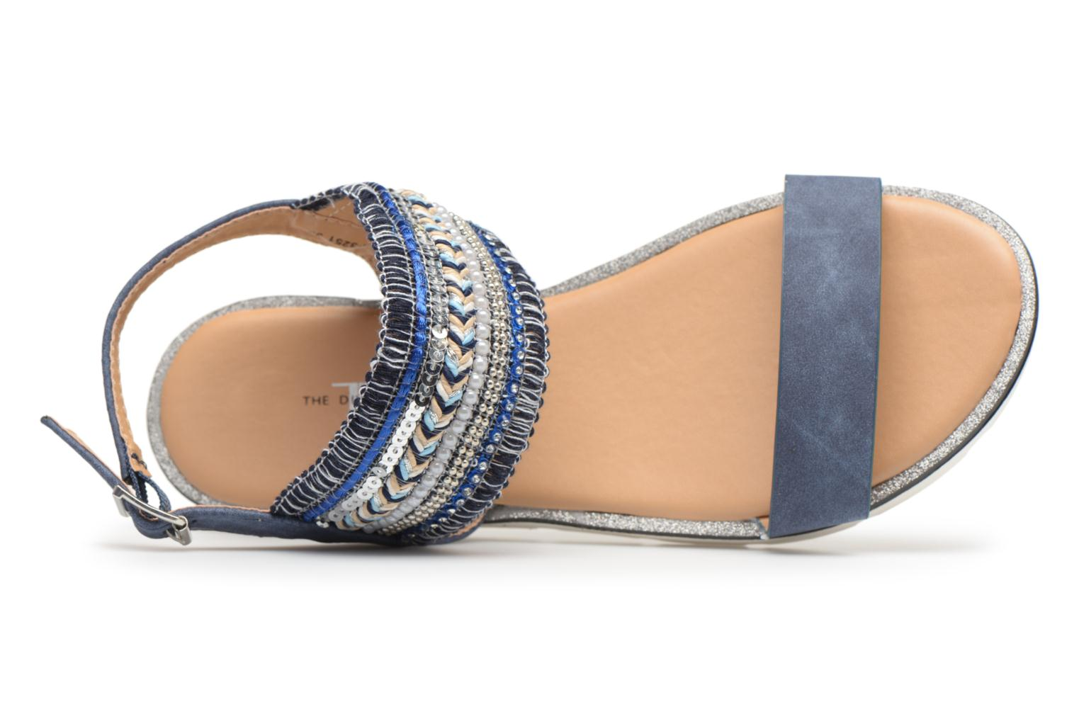 Sandalen Divine Factory Anna Blauw links