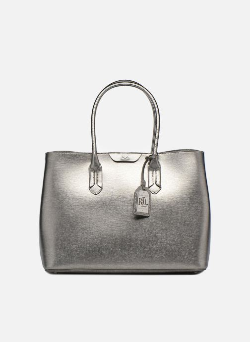 b740f0745 Handbags Lauren Ralph Lauren City Tote Tote Embossed Leather Silver  detailed view/ Pair view