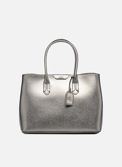 4256dff01454 Handbags Lauren Ralph Lauren City Tote Tote Embossed Leather Silver  detailed view  Pair view