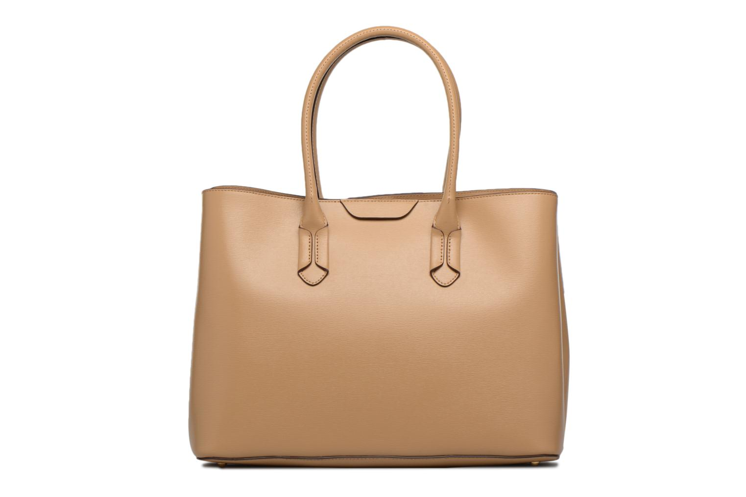 by Lauren City Embossed Cream Tote Lauren Ralph Tote Leather zxvqF
