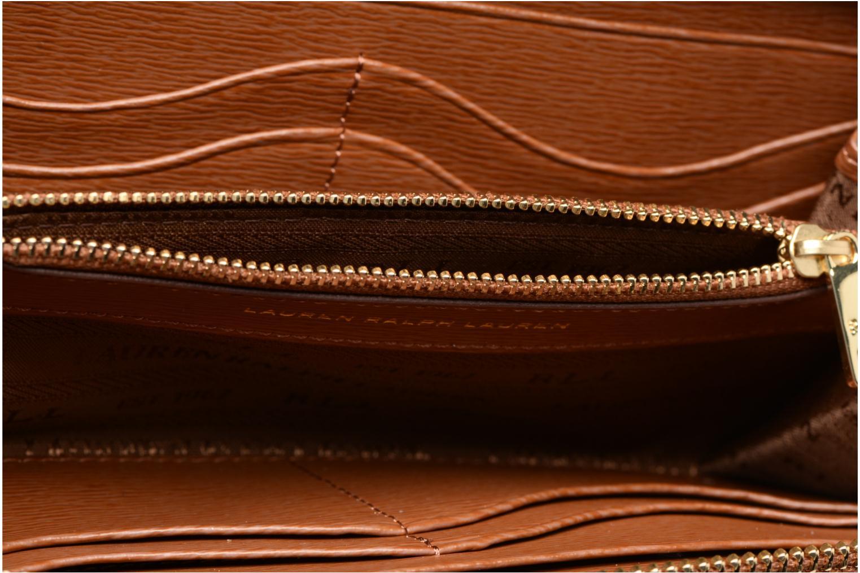 Wallet tan Zip Around Lauren Lauren Ralph by Cocoa Lauren nWqXFBU