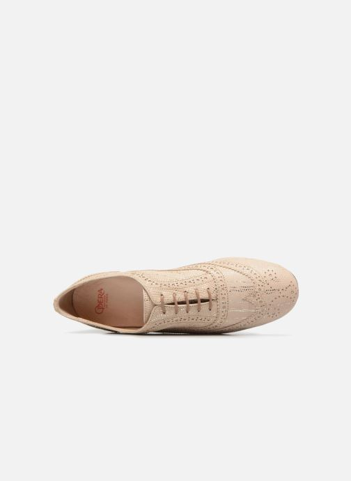 Chaussures à lacets Opéra national de Paris Olwen 1438 Beige vue gauche