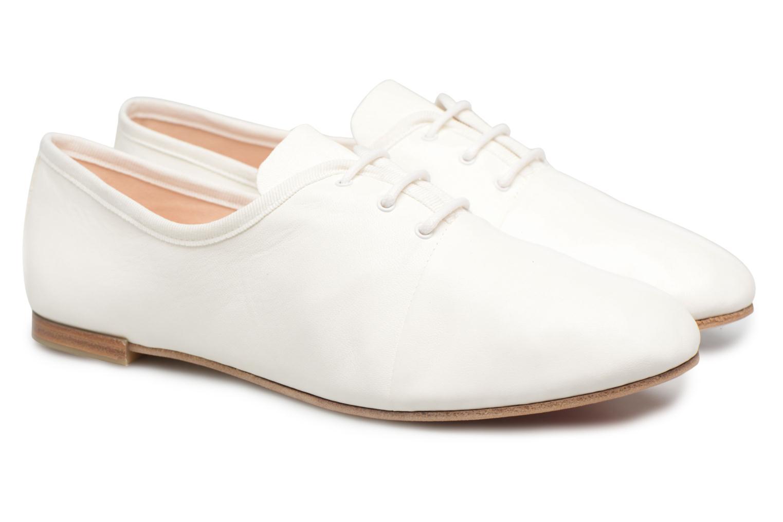 Chaussures à lacets Opéra national de Paris Elme 1421 Blanc vue 3/4