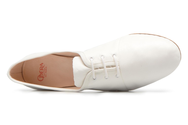 Chaussures à lacets Opéra national de Paris Elme 1421 Blanc vue gauche