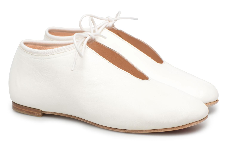 Chaussures à lacets Opéra national de Paris Elysee 1421 Blanc vue 3/4