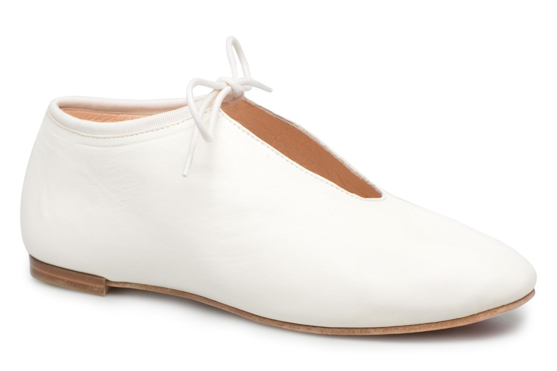 Chaussures à lacets Opéra national de Paris Elysee 1421 Blanc vue détail/paire