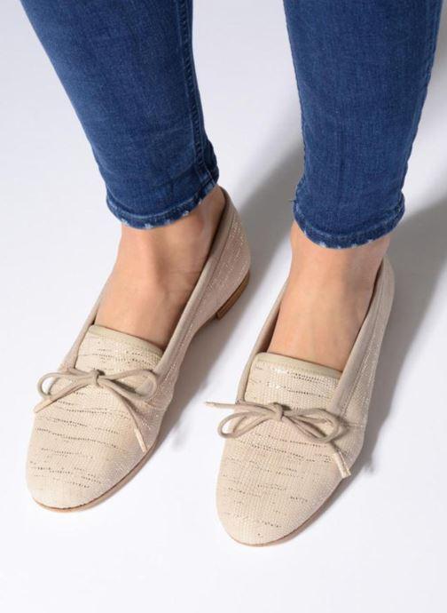 Chaussures à lacets Opéra national de Paris Elika 1438 Beige vue bas / vue portée sac