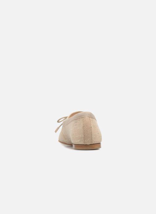 Chaussures à lacets Opéra national de Paris Elika 1438 Beige vue droite