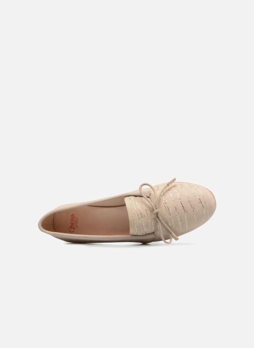 Zapatos con cordones Opéra national de Paris Elika 1438 Beige vista lateral izquierda
