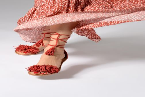 Sandali e scarpe aperte I Love Shoes Kelipom Leather Azzurro immagine dal basso