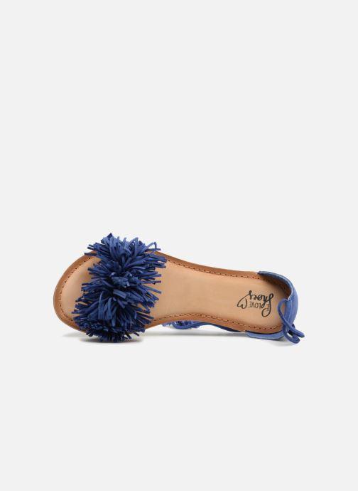 Sandales et nu-pieds I Love Shoes Kelipom Leather Bleu vue gauche