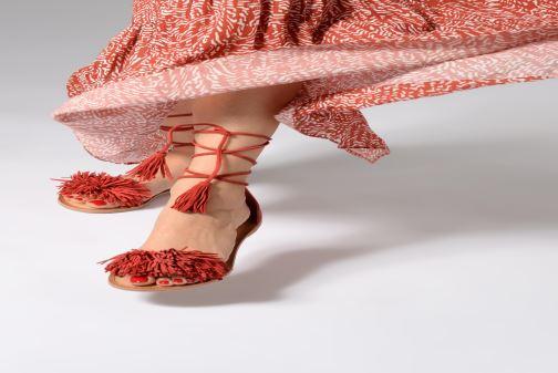 Sandales et nu-pieds I Love Shoes Kelipom Leather Rouge vue bas / vue portée sac