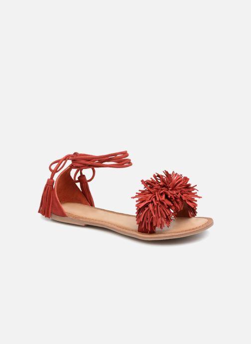 Sandales et nu-pieds I Love Shoes Kelipom Leather Rouge vue détail/paire