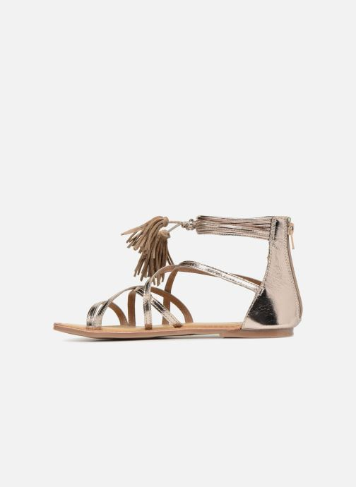 Sandals I Love Shoes Kemila Leather Bronze and Gold front view