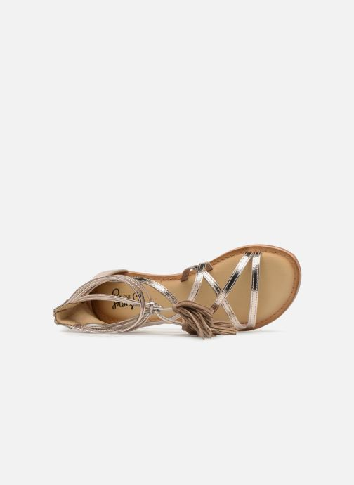 Sandals I Love Shoes Kemila Leather Bronze and Gold view from the left