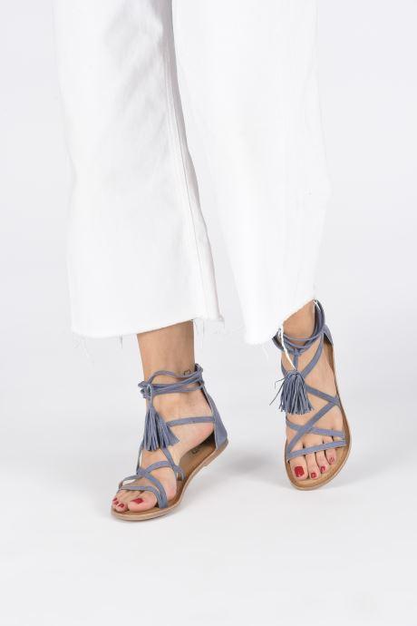 Sandales et nu-pieds I Love Shoes Kemila Leather Bleu vue bas / vue portée sac