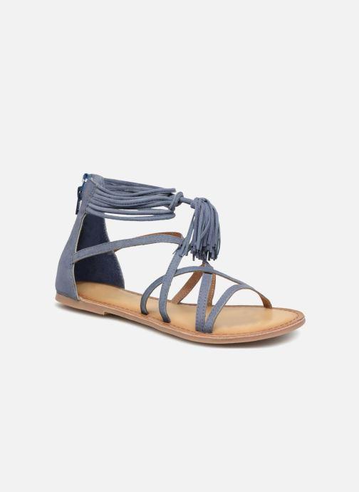 Sandales et nu-pieds I Love Shoes Kemila Leather Bleu vue détail/paire