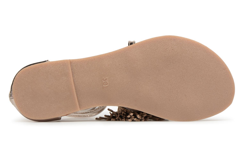 Sandali e scarpe aperte I Love Shoes Kemila Leather Oro e bronzo immagine dall'alto