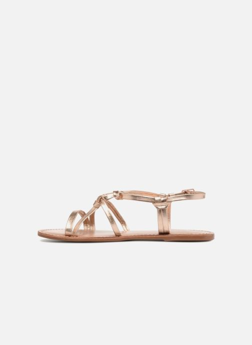 Sandals I Love Shoes Kenania Leather Bronze and Gold front view
