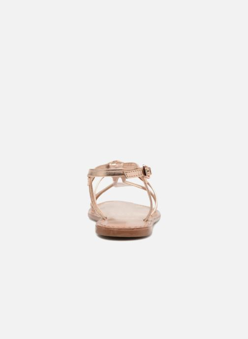 Sandals I Love Shoes Kenania Leather Bronze and Gold view from the right