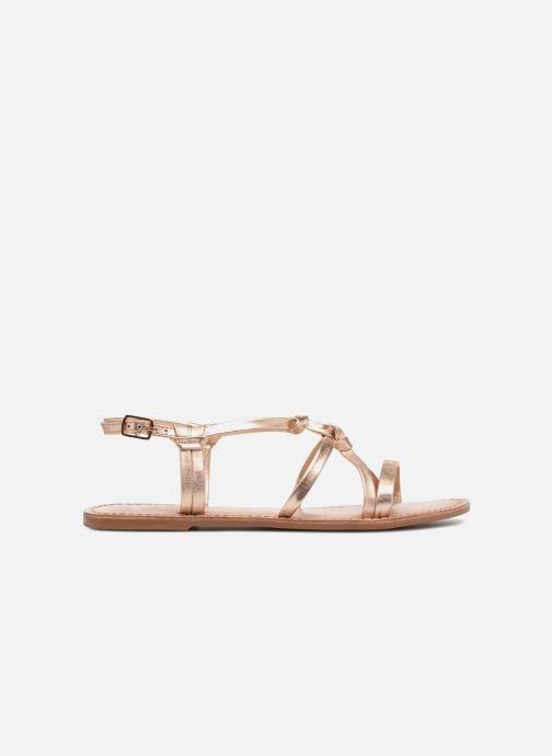 Sandalias I Love Shoes Kenania Leather Oro y bronce vistra trasera
