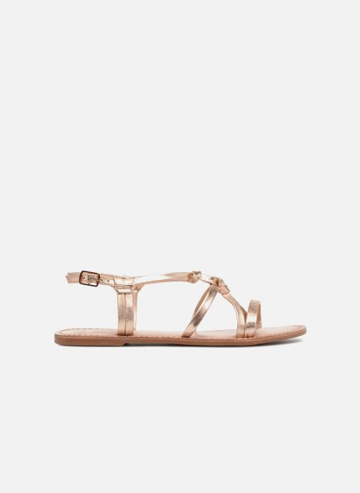 Sandals I Love Shoes Kenania Leather Bronze and Gold back view